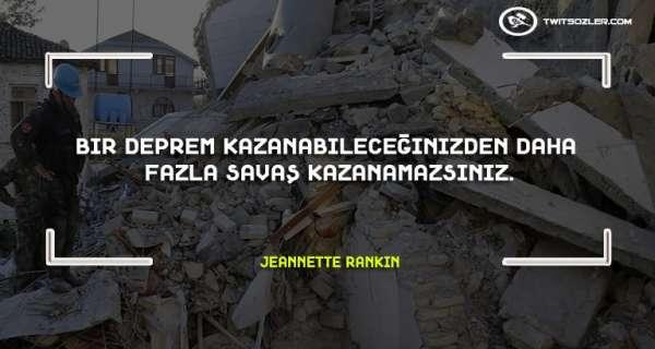 Deprem ile İlgili Sözler ve Alıntılar