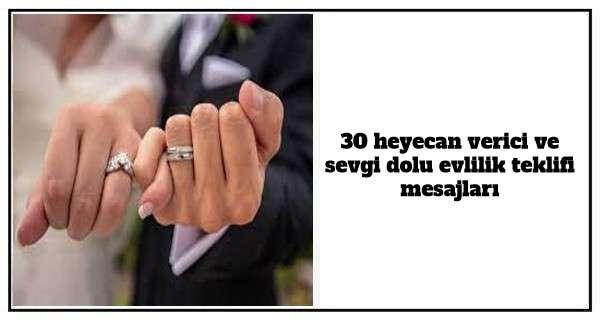 30 heyecan verici ve sevgi dolu evlilik teklifi mesajları